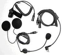 Гарнитура мото под шлем с кнопкой на руль или палец для радиостанций Icom / Midland / Alan