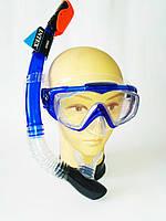 Маска с трубкой  для плавания обзор на 180 градусов Intex 55962 с закаленным стеклом и силиконом