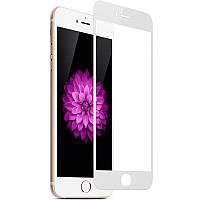 Защитное стекло FULL SCREEN в упаковке для iPhone 7 глянец (белый), фото 1