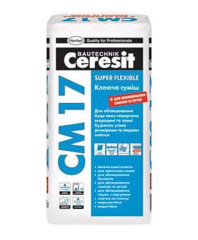 Церезит (Ceresit) СМ 17  Эластичный клей для любых видов плитки, 25 кг