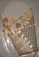 Летний конверт одеяло на выписку новорожденного