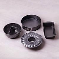 Набор форм для выпечки Kamille 3шт (круглая разъемная Ø26*7см; для кекса Ø22*8см; прямоугольная 28*15*7см)