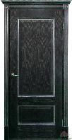 Межкомнатная дверь Зевс черная патина серебро ПГ