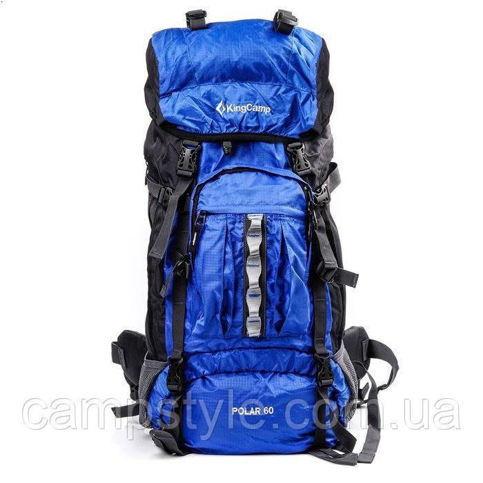 Рюкзак туристический kingcamp explorer 60l цвет синий рюкзак парашютисты