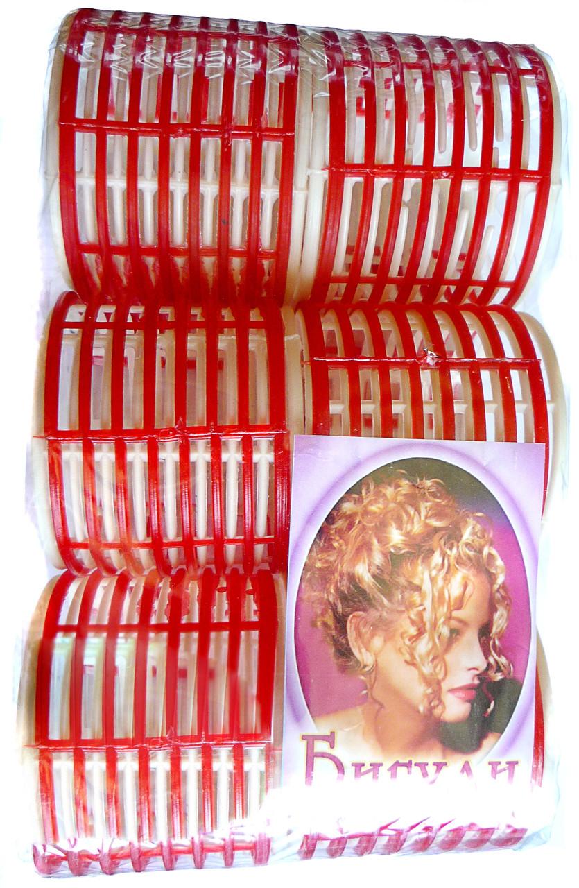 Пластмассовые бигуди с зажимом, 6 шт., (60 мм/75 мм)