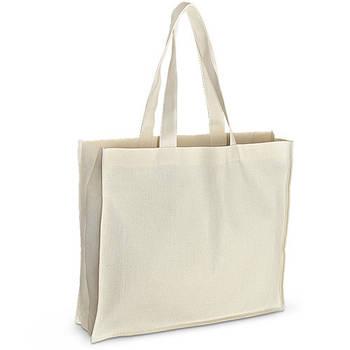 Еко-сумка для друку 42х10х35 див. з дном. Бавовна