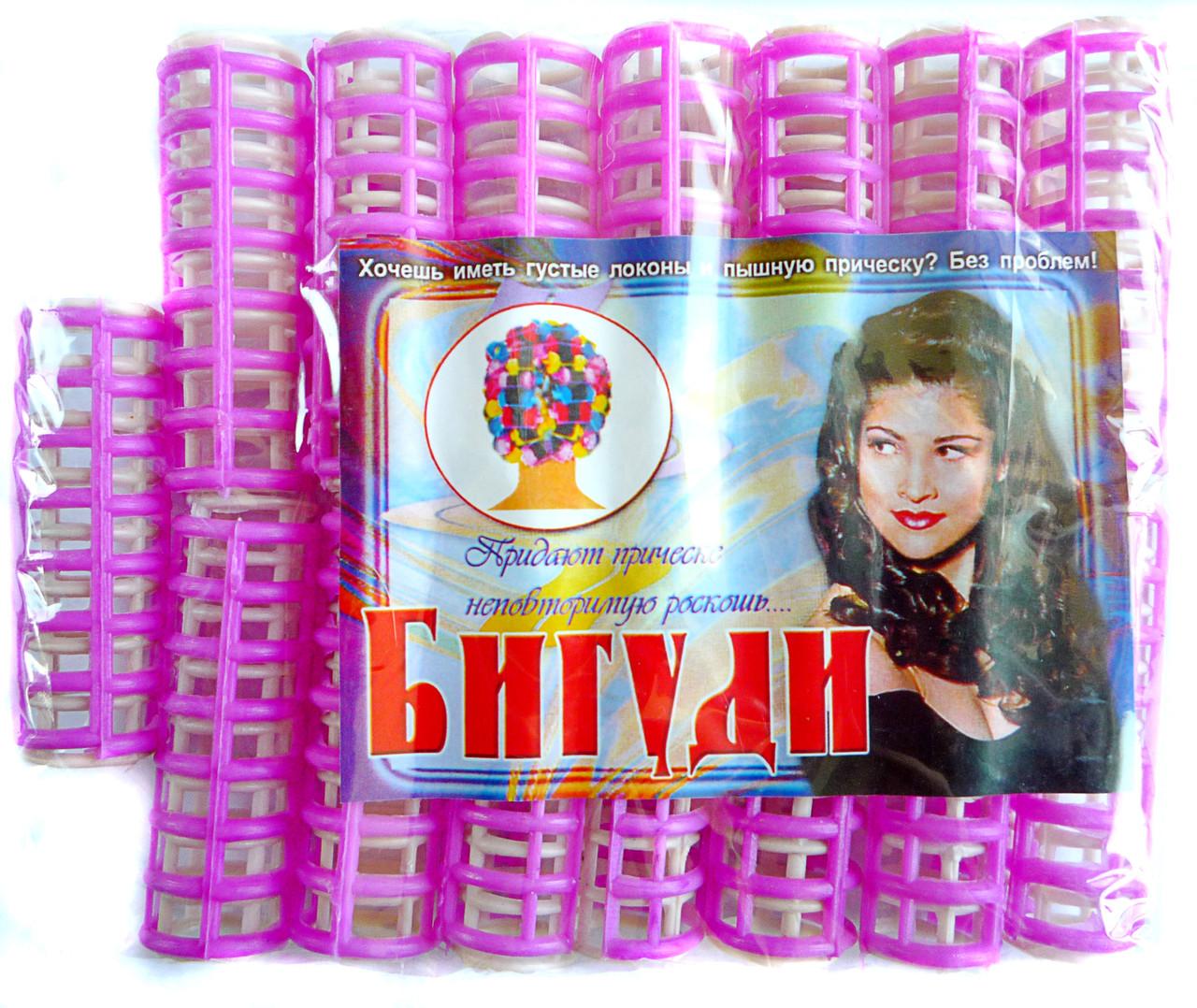 Пластмассовые бигуди с зажимом, 15 шт., (60 мм/15 мм)