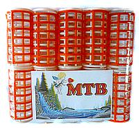Пластмассовые бигуди с зажимом, 10 шт., (60 мм/25 мм)