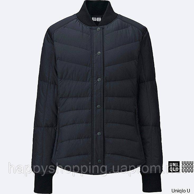 Женская черная легкая куртка на пуху японского бренда Uniqlo (пакуется в мешочек)