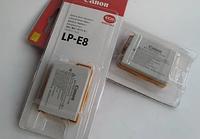 Аккумулятор Сanon LP-E8 для EOS 550D   EOS 600D   EOS Digital Rebel T2i   T3i   EOS Kiss X4   X5 (аналог)