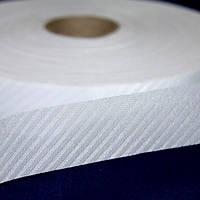 Тесьма синтетика по косой 28 мм белая (140 м)