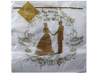 Декоративная трехслойная бумажная салфетка, Свадьба