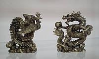 Феникс и дракон Набор статуэток под бронзу