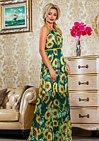 Летнее платье в пол с подсолнухами