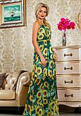 Літнє плаття в підлогу з соняшниками
