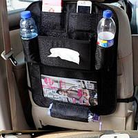 Защитный чехол на спинку автомобильного сиденья с органайзером