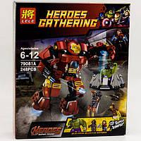 "Конструктор аналог Lego минифигурок ""Разрушительный удар Халкбастера"", 248 деталей"" Super Heroes артикул 79081"