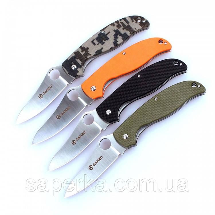 Нож многоцелевой Ganzo (черный, зеленый, оранжевый, камуфляж) G734-BK
