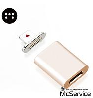 Магнитный адаптер для кабеля синхронизации зарядки iPhone iPad iPod MagCable Lightning Gold