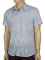Рубашка мужская разных цветов с коротким рукавом L