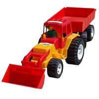 Трактор с ковшом и прицепом 007/2 (Y)