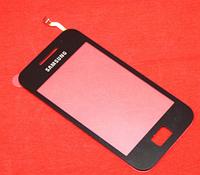 Оригинальный тачскрин / сенсор (сенсорное стекло) для Samsung Galaxy Ace S5830i (черный цвет, самоклейка)