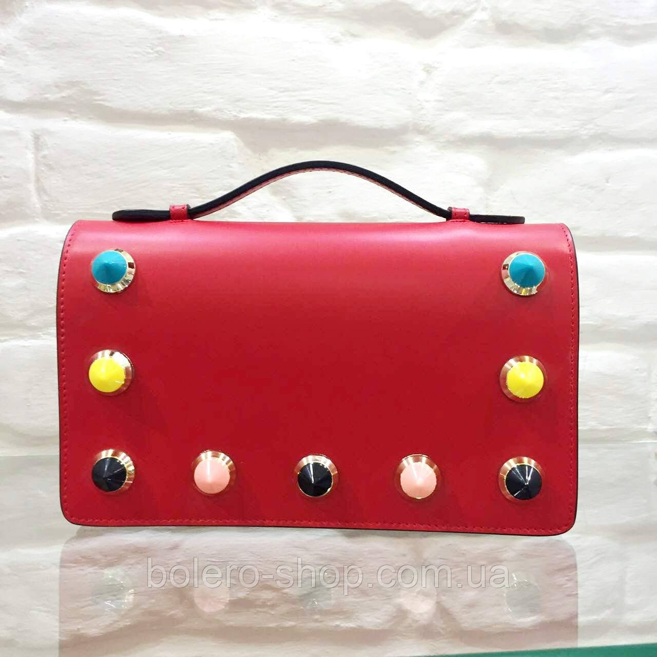 """Брендовая женская сумка красная кожаная маленьких размеров Leather Country - Магазин брендовой женской и  мужской одежды """" BOLERO"""" в Львове"""