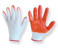 Защитные перчатки из полиэстера покрытые нитрилом