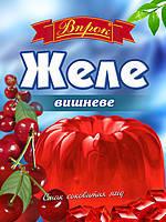 """Желе вишнёвое на желатине 80г ТМ """"Впрок"""""""