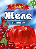 """Желе вишнёвое на желатине 80г """"Впрок"""""""