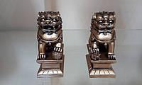 Собачки Фу  Набор статуэток под бронзу