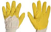 Перчатки с латексным покрытием Желтое Стекло