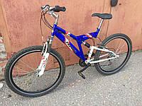 Велосипед 26 колеса, двухподвес, перебран, Б/у, новые детали