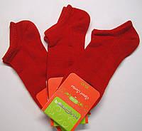 Низкие носки в сетку красного цвета женские