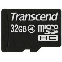 Карта памяти TRANSCEND microSDHC 32 GB Class 4 без адаптера