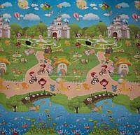 """Двухсторонний детский коврик 200х180х1см, """"Сказочный город"""", теплый аквастоп"""