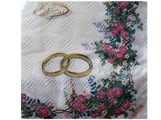Декоративная двухслойная бумажная салфетка, Свадьба