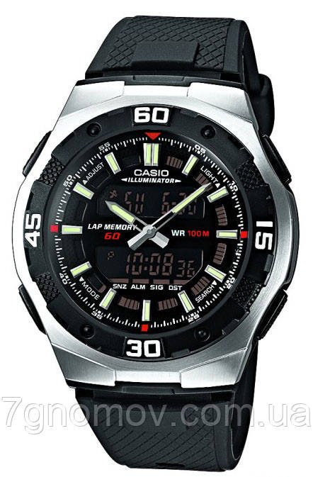 Часы наручные мужские CASIO Standard Combi арт. AQ-164W-1AVEF