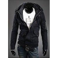 Демисезонная, дизайнерская куртка с необычным воротом
