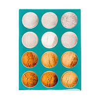 Набор микро-песка ( пыль) для дизайна ногтей, золото, белый,12 шт