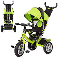 Велосипед M 3113-4A три колеса резина (12/10), колясочный тип, свободный ход колеса, тормоз, подшипник, зелены