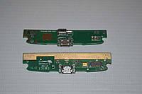 Шлейф (Flat cable) с коннектором зарядки, микрофона, виброзвонка для Lenovo S820