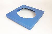 Коробка для пряников, печенья с окошком, голубая