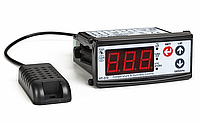 Терморегулятор гигростат - реле контроля температуры и влажности диапазон -20+80°C 5..95%RH купить цена TENSE