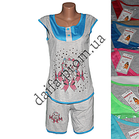 Молодежная котоновая пижама BS4 (р-ры 44-50) оптом со склада в Одессе.