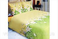 Комплект постільної білизни ТЕП євророзмір Лілія зелена
