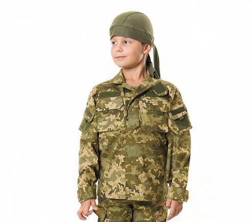 Куртка детская Киборг для мальчиков цвет камуфляж Пиксель рост 152-158, фото 2