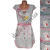 Молодежная котоновая ночная рубашка TL28 (р-ры 46-52) оптом со склада в Одессе.