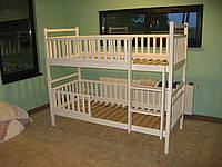 Детская двухъярусная кровать - трансформер из массива бука Бук-6