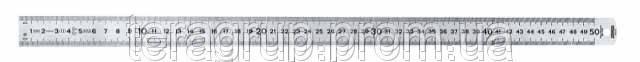 Линейка инженерная, нерж. сталь, 500*25*1,0мм, полужесткая., STANLEY 1-35-556.
